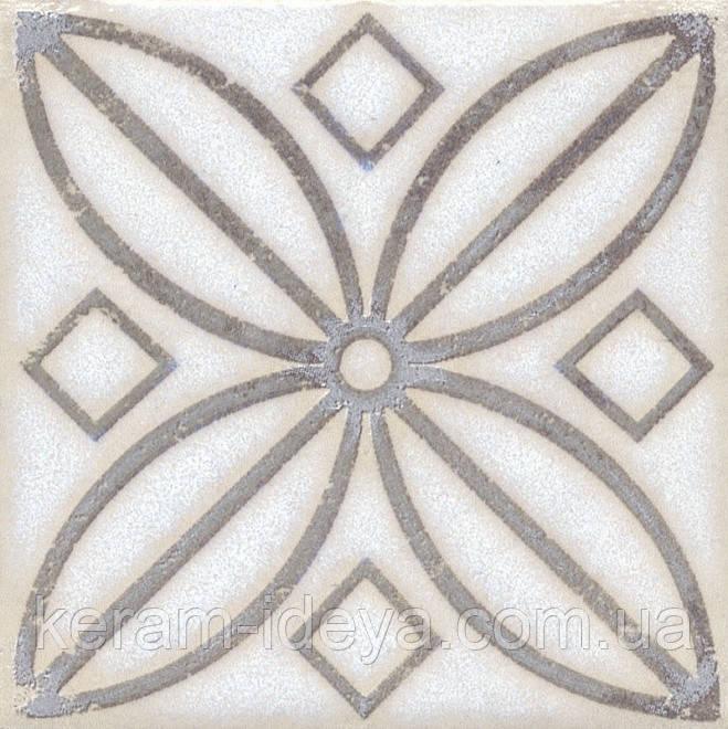 Вставка Kerama Marazzi Неаполитанская Амальфи STG\A402\1266 орнамент коричневый 9,9х9,9