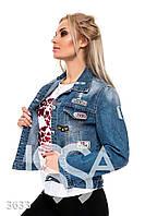 Ledi M Женская джинсовая куртка IS 3633 синий Леди М