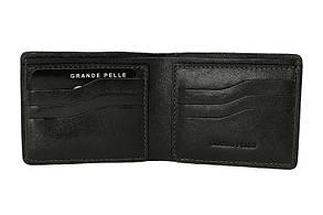 Портмоне Grande Pelle Onda 110х90х10 мм глянцева шкіра чорний