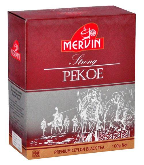 """Чёрный среднелистовой чай """"Pekoe"""", Mervin, 100 г"""