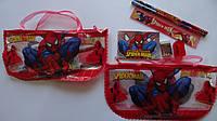 """Набор канцелярский подарочный """"Спайдермен Spyder Man"""",7пр в пенале-сумочке.Подарочный канцелярский набор детск"""