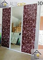 Двери купе раздвижные (межкомнатные перегородки, гардеробные) фотопечать, зеркало