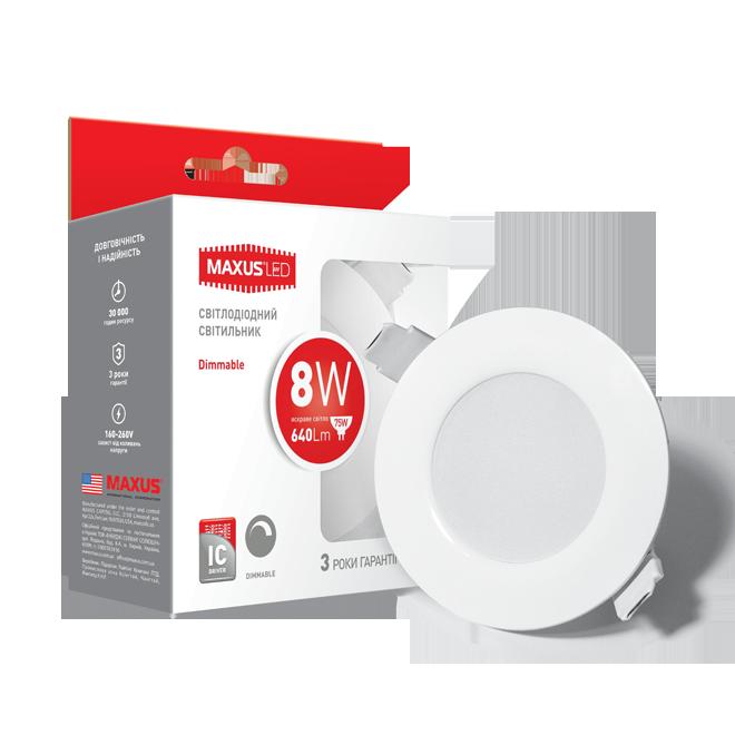 Світлодіодний діммуючий точковий світильник MAXUS LED SDL mini 8W 4100K (1-SDL-006-01-D)