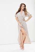 """Длинное трикотажное платье на запах """"Lirika"""" с люрексом (2 цвета)"""