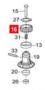 Шестерня червячная WINGO WG10/WG20/WINGO24V (PPD1094.4540)