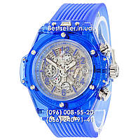 Часы Hublot Big Bang Quartz Unico Sapphire Blue. Реплика, фото 1