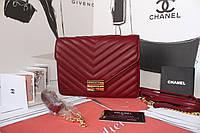 Женская сумочка CHANEL бордо натуральная кожа
