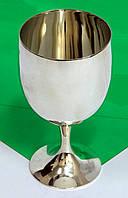 Срібний бокал з позолотою