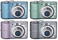 Фотоаппарат Canon PowerShot A1100 IS Pink  / 12,1 Mp / LCD 2,5' / Zoom 4x / оптический стабилизатор / SD, SDHC, MMCPlus, HC MMCPlus / 2 x AA / 12 мес