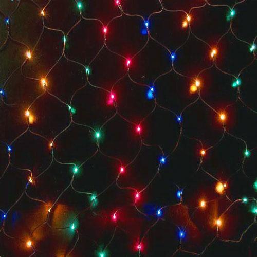 Гірлянда сітка світлодіодна 240 LED мульти колір