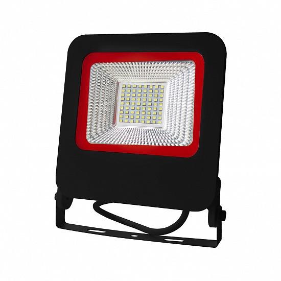 Світлодіодний прожектор EUROELECTRIC SMD чорний з радіатором NEW 50W 6500K