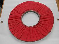 Круг полировальный тканевый х/б красный 400х20х145