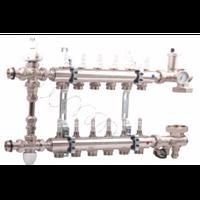 Коллектор водяного теплого пола VALTEK 2-12 контуров в сборе