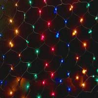 Гирлянда новогодняя сетка 240LED мульти 3х0,8 метра
