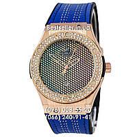 Часы Hublot Classic Fusion Quartz Blue/Gold. Реплика, фото 1