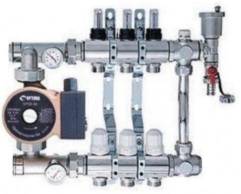 Коллектор водяного теплого пола SD 2-12 контуров в сборе, фото 2