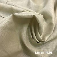 Бежевая льняная ткань 100% лен, цвет 174