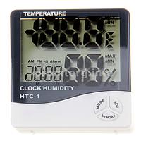 Цифровой термометр со встроенными часами и гигрометром HTC-1