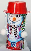 """Новогодняя упаковка для конфет и подарков """"Снеговик в шляпе"""""""