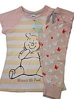 Розовая  летние трикотажная  пижама