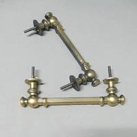 Ручка круглая на гроб металлозированная
