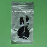 Кабель USB - microUSB плоский, довжина 1 м, колір чорний, фото 3