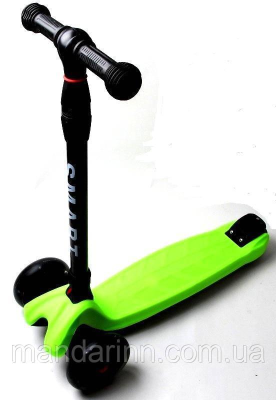 Самокат Scooter Smart Салатовий Всі світяться колеса