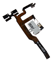 Шлейф для iPhone 4S, с кнопками регулировки громкости, с конектором наушников, белый, оригинал