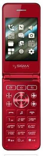 Телефон кнопочный раскладушка с большим экраном в стильном тонком корпусе красный