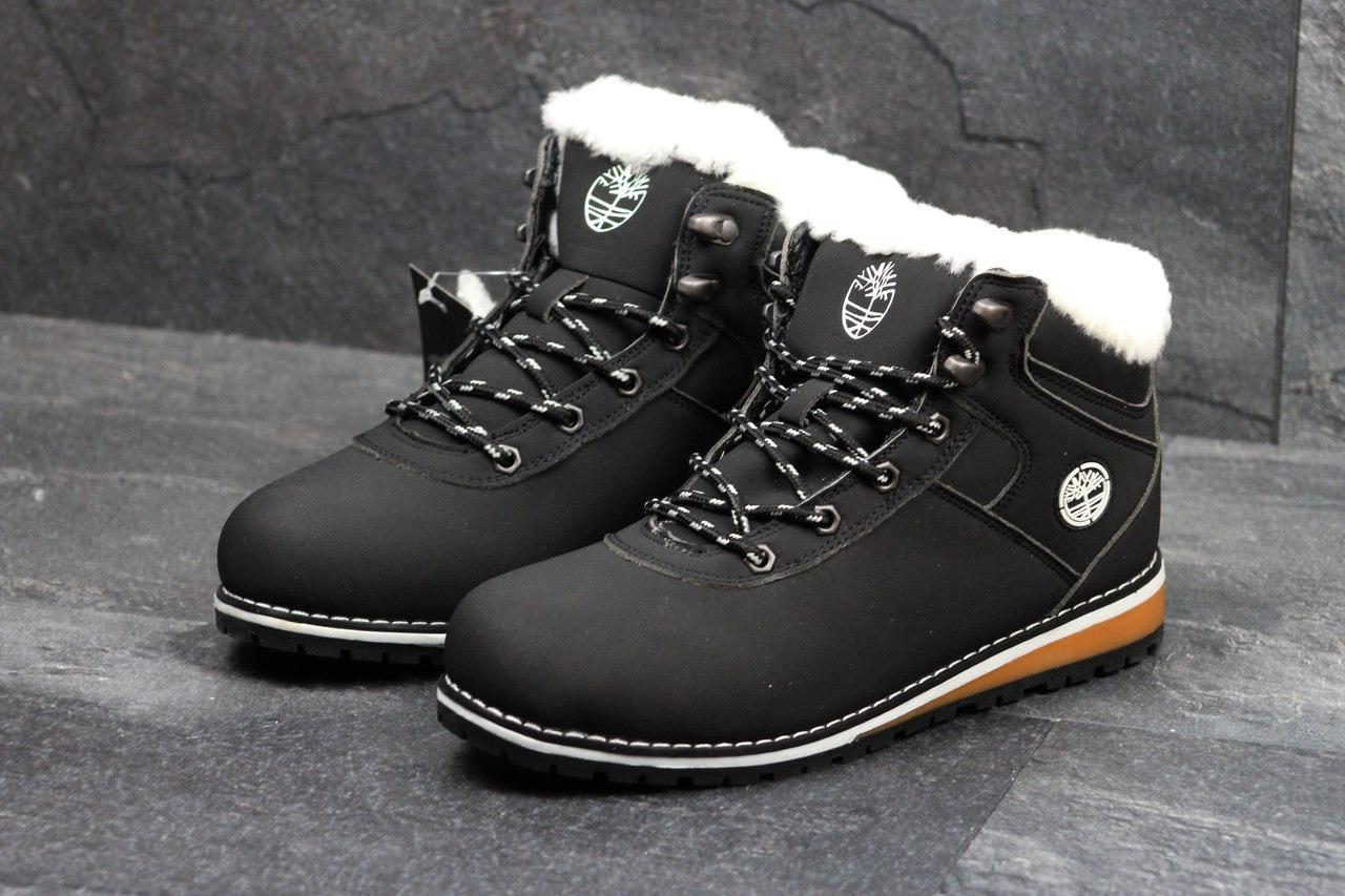 Зимние ботинки женские Baas (черные), ТОП-реплика