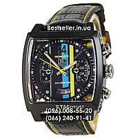 Часы Tag Heuer Monaco 45мм Calibre 36 Automatic Black/Yellow (Механика). Реплика, фото 1