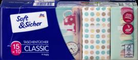 Бумажные носовые платки Soft & Sicher Classik, 15 x10 шт.