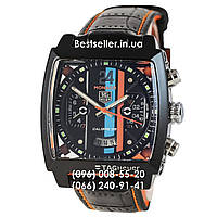 Часы Tag Heuer Monaco 45мм Calibre 36 Automatic Black/Orange (Механика). Реплика, фото 1