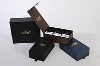 Элитный подарочный набор мужских носков в картонной коробке на 15 пар. Цвет - шоколад