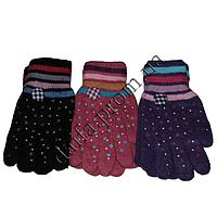 Женские перчатки T5158 (двойная вязка) оптом в Одессе