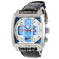 Часы Tag Heuer Monaco 45мм Calibre 36 Automatic Silver/Blue/White (Механика). Реплика