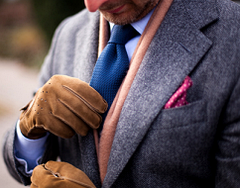 Мужские перчатки на подкладке