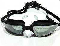 Очки для плавания Speedo (мягкая переносица, черный силикон)