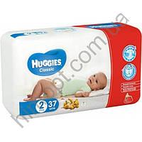 Подгузники Huggies Classic 2 (3-6 кг) 37 шт.(памперсы Хаггис классик)