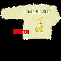 Распашонка для новорожденного р. 56 с начесом и царапками ткань ФУТЕР 100% хлопок ТМ Алекс 3177 Желтый В