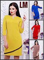 Платье Айвиа 42,44,46,48,50 р красное электрик женское весеннее осеннее батал короткое с кружевом летнее