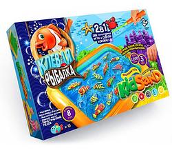 Детская магнитная игра, рыбалка. Игра наст. большая 2 в 1 Клевая рыбалка и Кинетический песок.