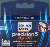 Сменные лезвия для станка Balea men Precision 5 Flex-Pro, 4 шт