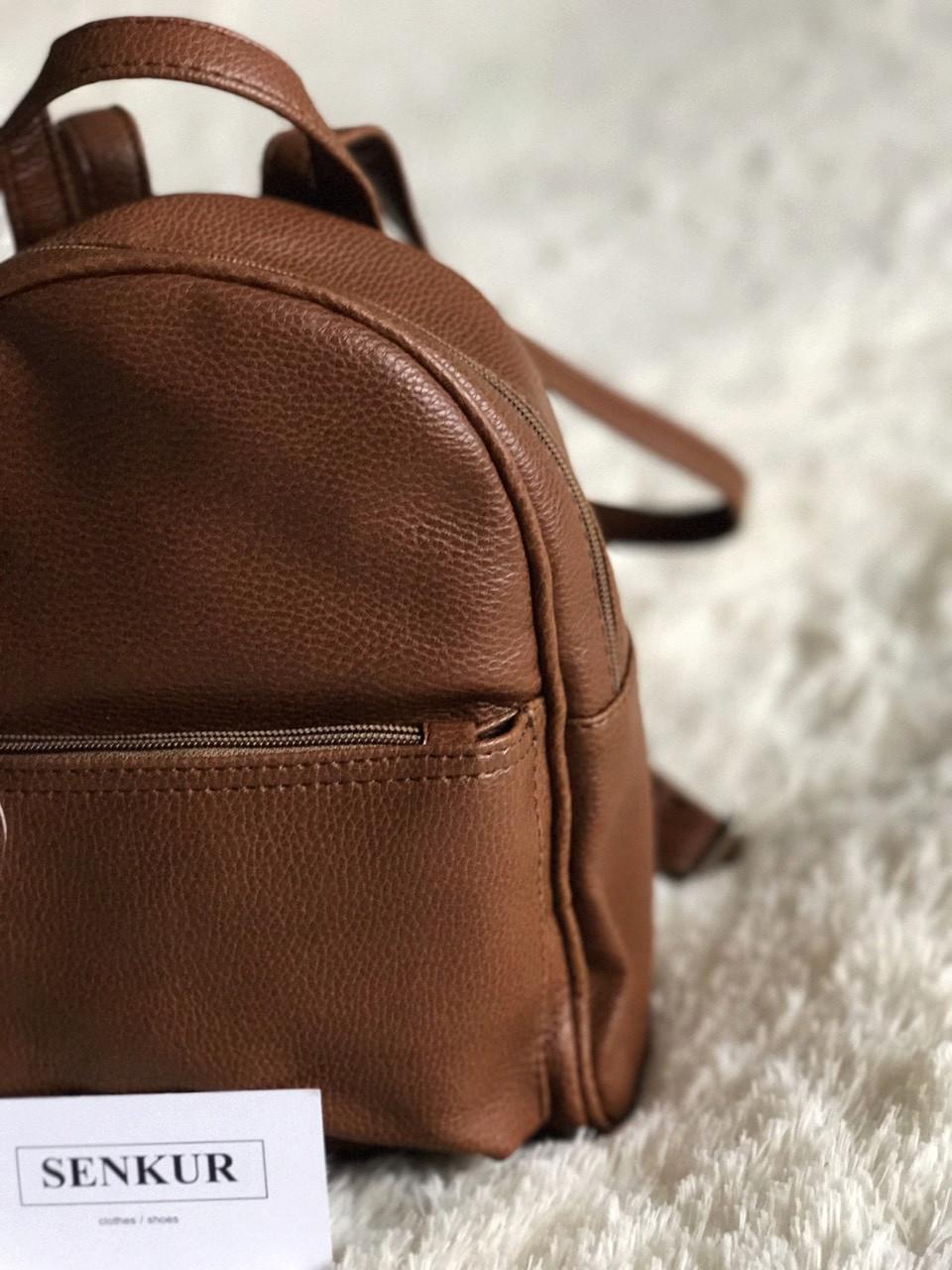 Женский мини рюкзак коричневый М124-41