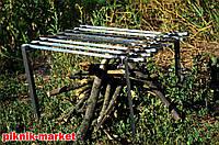 Мангал подставка из нержавеющей стали 1.8мм на 8 шампуров в чехле