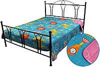 Покрывало на кровать, диван в детскую 150х212 хлопковое двустороннее