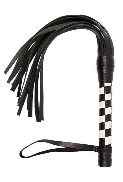 Флогер VIP Leather Flogger Black&White