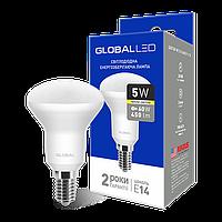 """LED лампа GLOBAL R50 5W 3000K (м""""яке світло) 220V E14 (1-GBL-153)"""