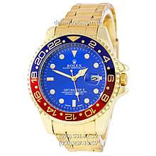 Мужские часы Rolex GMT-Master II Quarts Gold-Red-Blue, кварцевые часы Ролекс Мастер, реплика, отличное качество!