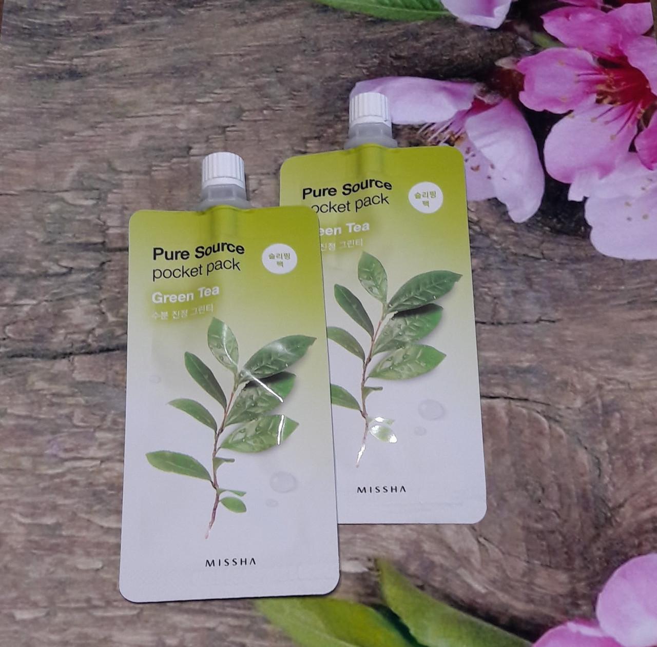 Ночная маска с зеленым чаем Missha Pure Source Pocket Pack - Green Tea